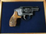 Smith & Wesson Model 442 Centennial AirWeight Engraved .38 Special - 1 of 10