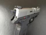 FN FNH-USA FNX-40 Bi-Tone Stainless Slide .40 S&W - 8 of 9