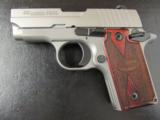 Sig Sauer P238 HDW Stainless Wood Grips .380 ACP/AUTO - 2 of 6