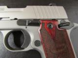 Sig Sauer P238 HDW Stainless Wood Grips .380 ACP/AUTO - 1 of 6