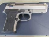 Beretta 92 FS Compact INOX (Stainless) USA Made 9mm J90C9F20 - 1 of 9