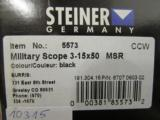 Steiner M5xi 3-15x50-Military Rifle Scope MSR Reticle - 5 of 6