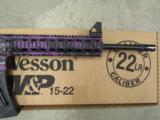 Smith & Wesson M&P15-22 Purple Platinum .22 LR 10041 - 5 of 7