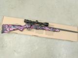Savage Model 93R17 Muddy Girl Pink Camo with Scope .17 HMR 96208 - 1 of 8