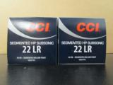1000 ROUNDS CCI SEGMENTED HP SUBSONIC .22 LR 22LR - 4 of 4
