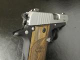 Sig Sauer P238 SAS Bi-Tone Wood Grips .380 ACP/AUTO 238-380-SAS - 8 of 8