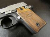 Sig Sauer P238 SAS Bi-Tone Wood Grips .380 ACP/AUTO 238-380-SAS - 4 of 8