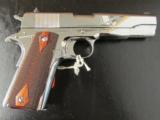 Colt Custom 1911 Bright Stainless Rosewood .38 Super - 2 of 10