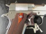 Colt Custom 1911 Bright Stainless Rosewood .38 Super - 5 of 10