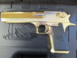 24kt Gold Magnum Research Desert Eagle Mark XIX .50 AE DE50GO - 2 of 8