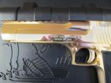 24kt Gold Magnum Research Desert Eagle Mark XIX .50 AE DE50GO - 6 of 8