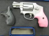 Smith & Wesson Model 642 Airweight Pink Grips .38 Special +P 150466