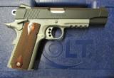 Colt 1911 Rail Gun Two-Tone w/ Rosewood Grips .45 ACP 01080RG - 1 of 9
