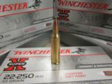 200 Rounds Winchester Super X 55 Gr PP .22-250 REM - 2 of 5