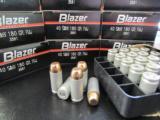 1000 Rounds CCI Blazer 180 Gr FMJ .40 S&W