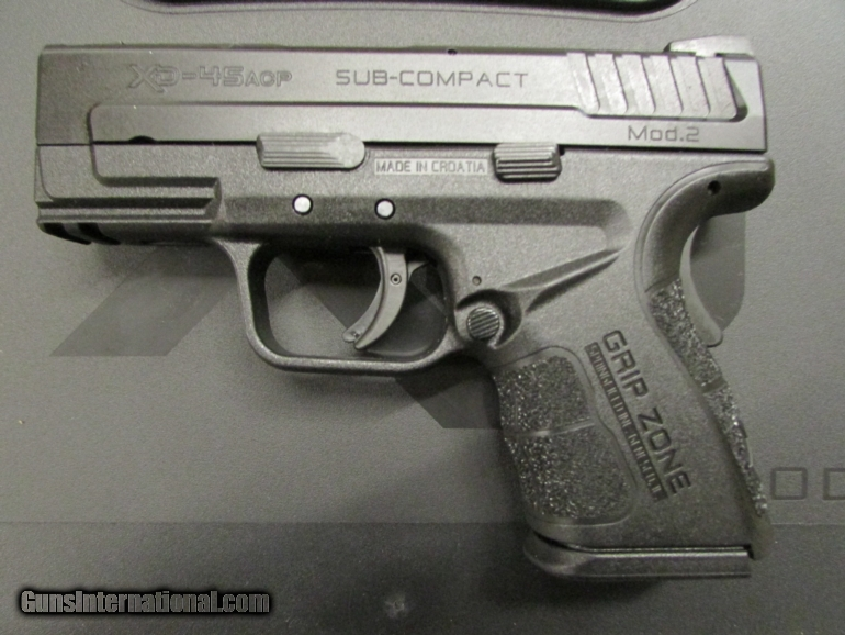 Springfield XD MOD  2 Sub-Compact  45 ACP XDG9845BHCSP