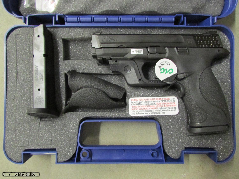 Smith & Wesson M&P40  40 S&W Crimson Trace Green Laserguard