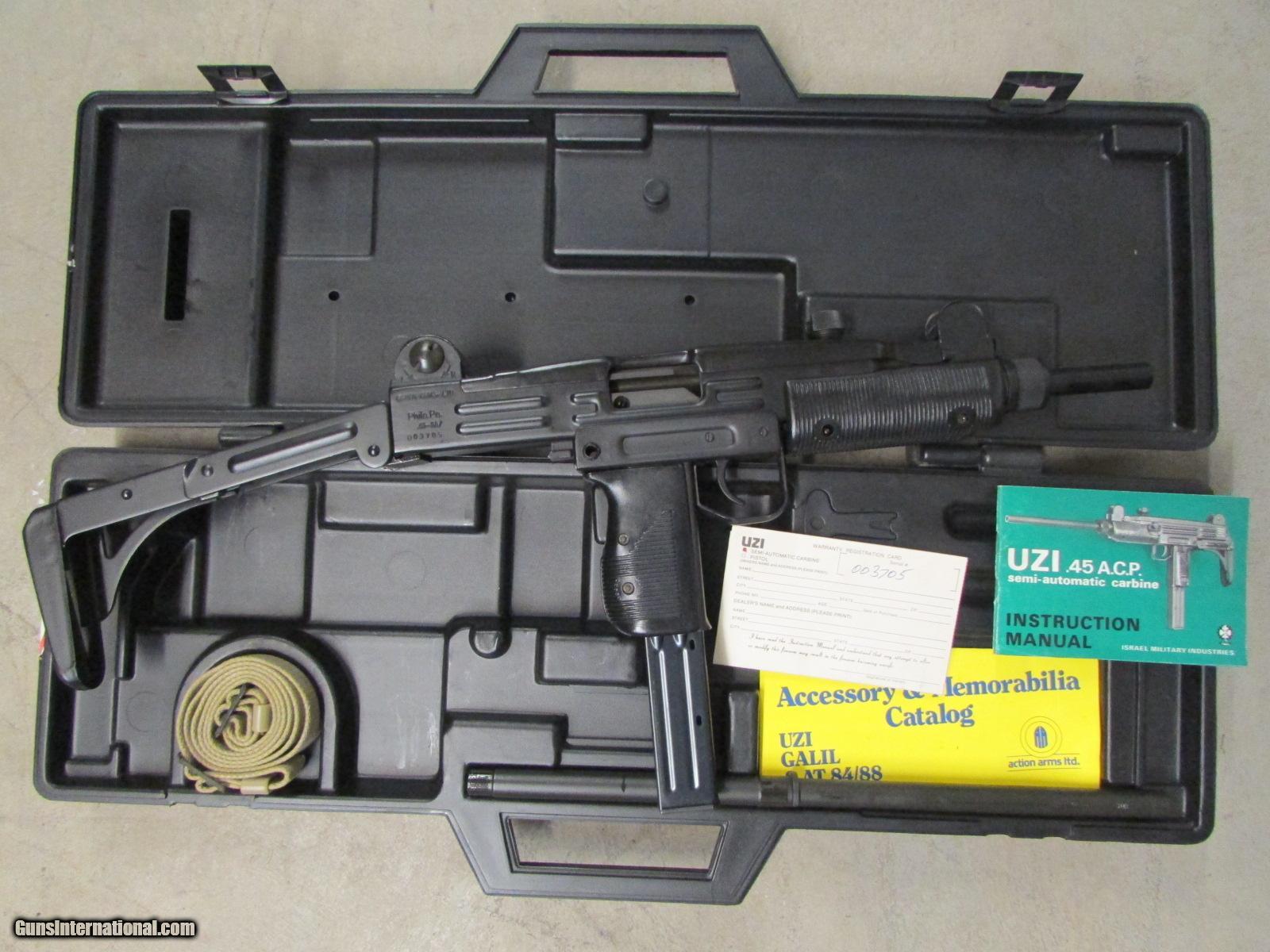 PRE-BAN ACTION ARMS IMI UZI MODEL 45 CARBINE  45 ACP RIFLE