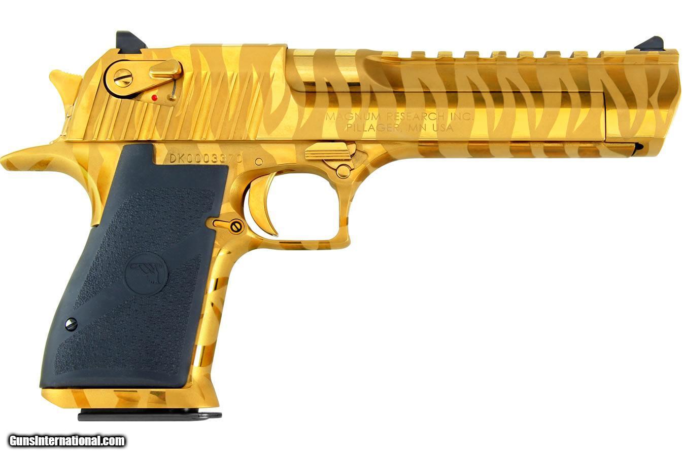 Magnum Research Desert Eagle .44 Mag Gold w/Tiger Stripes ...