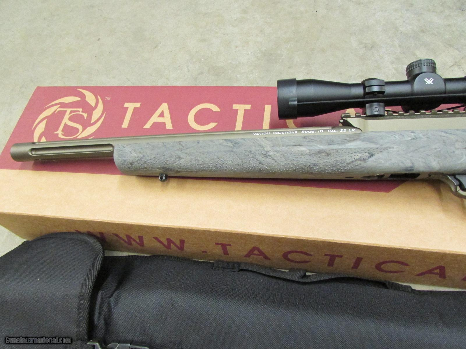 TACTICAL SOLUTIONS X RING RIFLE VORTEX 2 7X32 22 MOD OD HOGUE