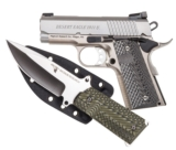 "Magnum Research DE 1911 Undercover .45 ACP w/Knife 3"" Stainless Steel DE1911USS-K"