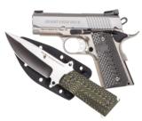"Magnum Research DE 1911 Undercover .45 ACP w/Knife 3"" Stainless Steel DE1911USS-K - 1 of 1"