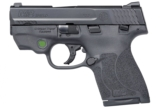"Smith & Wesson M&P9 Shield M2.0 9mm 3.1"" CT Green Laser 11901"