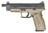 "Springfield Armory XDM Full Size Threaded 4.5"" 9mm Luger FDE SKU: XDMT9459FDEHCE"