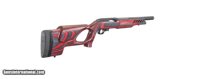 """Ruger 1022 Target Lite Thumbhole Im Kaliber 22lr: Ruger 10/22 Target Lite .22 LR Red/Black 16.13"""" Threaded 21185"""