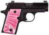 "Sig Sauer P238 Pink Pearl Grips .380 ACP 2.7"" 238-380-BSS-ESP"
