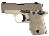 "Sig Sauer P238 Desert Tan .380 ACP 2.7"" 238-380-DES"
