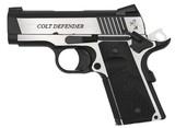 "Colt Combat Elite Defender 1911 .45 ACP 3"" Two-Tone O7080CE"