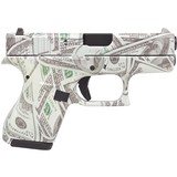 Glock G42 Glowing $100 Bills .380 ACP 3.25