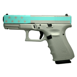 Glock G19 Gen 4 9mm Silver/Blue Flag 4.02