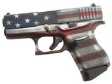 "Glock G43 Gen 4 9mm Battleworn USA Flag 3.39"" UI4350201CKFLAG"