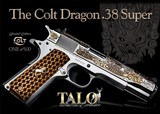 "Colt Dragon .38 Super TALO 5"" SS Engraved O2091MEX"