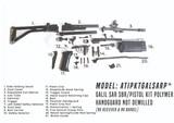 Demilled Galil SAR SBR / Pistol Military Surplus Parts Kit ATIPKTGALSARP - 1 of 1
