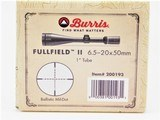 Burris Fullfield II 6.5-20x50mm Ballistic MIL-DOT Flat Dark Earth 200193FDE - 3 of 3