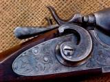 A.J. Aubrey (Meriden Firearms) Engraved Hammer gun - 3 of 7