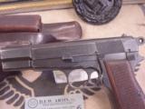 FN M 1935 HIGH POWER / P.640 b GERMAN MILITARY AXIS PISTOLWW II- 2 of 7