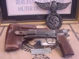 FN M 1935 HIGH POWER / P.640 b GERMAN MILITARY AXIS PISTOLWW II- 1 of 7