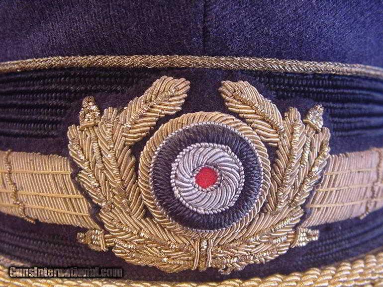 WWII GERMAN LUFTWAFFE GENERAL VISOR CAP for sale