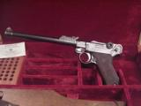 LUGER ARTILLERY DWM 1917 9MM WITH STOCK AND PRESENTATION CASE