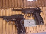 P-38A PAIR OF 2 P-38 WITH MATCHING SER. NUMBERS WALTHER & SPREE WERKE