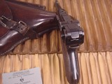 MAUSER LUGER BYF 41 9MM GERMAN MILITARY WWII - 5 of 13