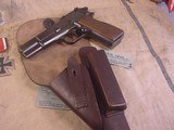 FN HI POWER MODEL P-35 PRE WWII 9MMWITH STOCK - 12 of 20