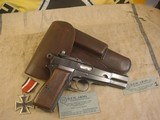FN HI POWER MODEL P-35 PRE WWII 9MMWITH STOCK - 3 of 20