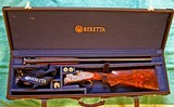 "Beretta SO5 EELL, 12 ga., 28"" bls, Hand Detachable Sidelocks, Briley Chokes, Master Engraver"