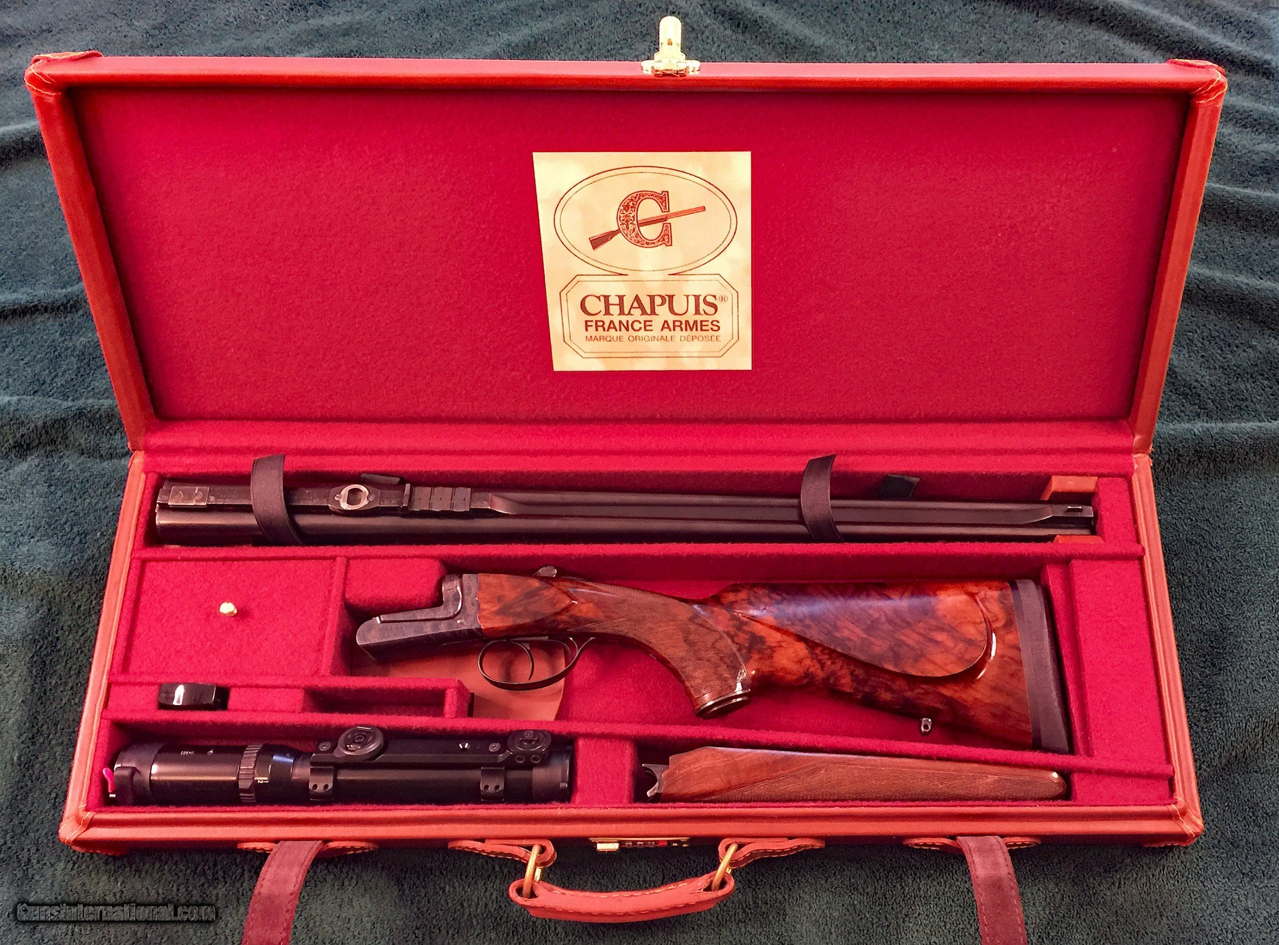 Chapuis Safari Express Double Rifle, .375 H&H Mag, S&B scope, Excellent  Plus ...