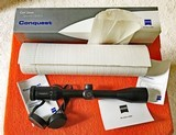Zeiss Conquest 3-9x40MC, Brand New Assembled in USA, Lifetime Warranty - 1 of 8